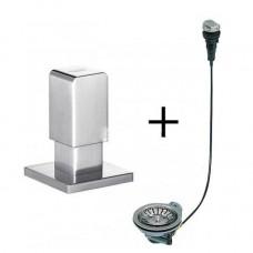 Набор доукомплектации клапаном-автоматом Levos Хром